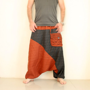 Two Tone Harem Pants for Men