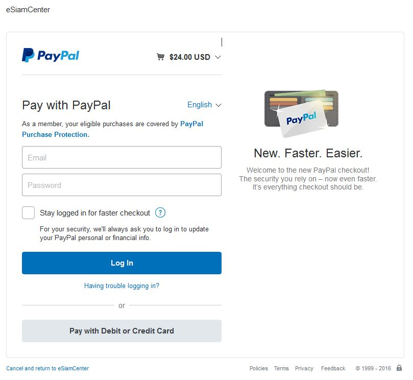 Pay by Credit Card without PayPal Account